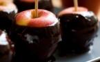 Recette Pommes d'amour au chocolat pour la saint-valentin