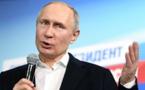 Russie: Vladimir Poutine plébiscité pour un quatrième mandat