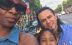 Photos : Alphie Ba TFM en vacances à Paris, avec son mari, Ricardo et leur fils
