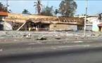 Vidéo amateur d'une grande artère d'Abidjan sud, après les pillages