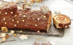 Bûche de Noel au chocolat : former la bûche