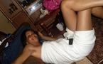 Adja Ndoye en mode serviette