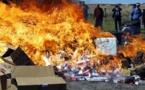 Sédhiou : Incinération de 3 tonnes de produits impropres à la consommation d'une valeur 5,5 millions de FCFA