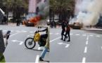 VIDEO - Un véhicule prend feu devant le Palais de la République