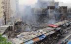 VIDEO - Incendie au marché Sandaga hier en début de soirée: Plusieurs cantines détruites par les flammes