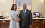 VIDEO - Naomi Campbell reçue par le Président Macky Sall