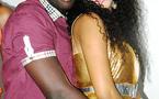 Photo: Adja Ndoye et son copain lors de son anniversaire