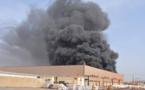 PHOTOS - Les images de l'incendie de l'usine de recyclage des déchets plastiques située à Keur Ndiaye LO