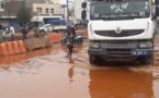 Pluie à Dakar: Les routes de certains quartiers impraticables (images)