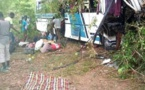 Accident d'un bus à Bignona : les terribles images qui témoignent de la violence du choc (Âmes sensibles s'abstenir)