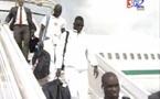 """Arrivée des """"Lions"""" à Bata en Guinée équatoriale"""