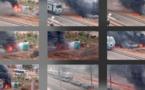 (Photos): Le pipeline de Dalifort, au niveau des rails a pris feu ce lundi matin…