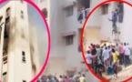 VIDEO de l'Incendie à Ouest Foire- L'immeuble d'un internat ravagé: Des femmes sautent du 2e étage