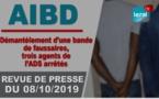 AIDB - Démantèlement d'une bande de faussaires: 3 agents de l'ADS arrêtés