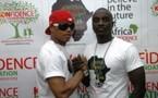 El Hadji Diouf et Akon à la prestation de serment du président Macky Sall