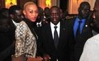 Le mannequin Nogui Dieng en compagnie du président Macky Sall à Paris