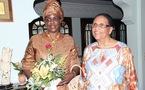 Visite de la première dame madame Sall chez Mesdames Mbow et Diouf.
