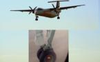 VIDÉO: Un passager filme l'avion qui perd une roue au décollage