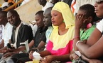 Mbathio Ndiaye au stade lors du combat Gouye-Gui vs Ama Baldé