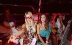 La jet-setteuse d'origine sénégalaise Iman de Channel avec Paris Hilton