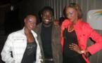Les mannequins Fatou Fine et Fleur Mbaye avec Yoro Ndiaye