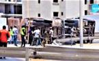 VIDEO - Accident: Un camion chargeant du béton tombe à l'échangeur de la Foire... Regardez !
