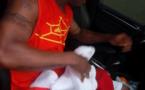 El Hadj Diouf après une séance d'entrainement au terrain de sacré coeur