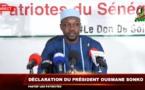 En DIrect - Le président de Pastef, Ousmane Sonko s'adresse aux Sénégalais