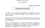 La Cellule de Communication de la Présidence de la République informe qu'un faux décret numéroté 2020-964 circule actuellement dans les réseaux sociaux