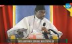 EN DIRECT DE TIVAOUANE: LA DÉCLARATION DE SERIGNE MOUSTAPHA SY (Vidéo)