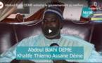 VIDEO - Décès du Khalife Cheikh Ahmed Tidiane Niass: « Nous avons perdu un vrai disciple de Baye, un grand agriculteur, un savant… » (Abdoul Bakhi Déme)