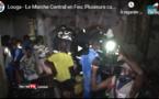 Vidéo / Louga: Le marché central en feu, plusieurs cantines en cendres, la longue lutte des sapeurs-pompiers.contre le feu !