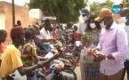 Louga: avec des masques et du carburant, Mberry Sylla en renfort aux conducteurs de moto Jakarta