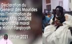 Déclaration de Serigne Mountakha Mbacké après l'inhumation de Serigne Atou Diagne