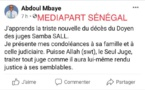 Décès du juge Samba Sall: Lynché sur les réseaux sociaux, Abdoul Mbaye supprime son texte sur Facebook et Twitter