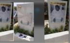 Photos/ Allées Serigne Babacar Sy: La stèle, portant son effigie, profanée
