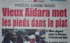 A la Une du Journal Walfadjri du mercredi 05 novembre 2014