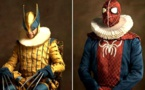 Quand la Pop Culture et les super-héros rencontrent la peinture flamande ! Excellent...