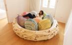 Ce gigantesque nid douillet va faire votre bonheur à la maison ! Mention spéciale flemmards et gros dormeurs...