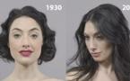 100 ans de maquillage et de coiffure en 1 minute ! C'est fou à quel point les idéaux de beauté ont changé...