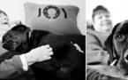 Les derniers adieux de chiens à leurs maîtres à travers de magnifiques photos en noir et blanc ! Vraiment émouvant...