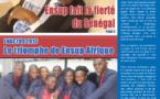 A la Une du journal d'Ensup Afrique realisé par les membres du club J-COM