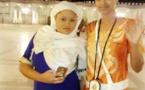 Marie Louise Diaw en mode Baye Fall avec son fils et sa sœur au Magal de Serigne Fallou