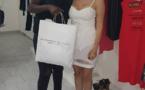 Ndèye Guèye en mode shopping