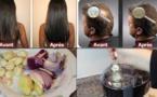 Elle avait des cheveux fins mais elle a utilisé cet ingredient. Voici le résultat