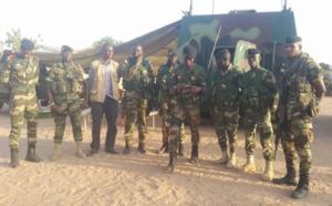 Barka Ba à Karang avec les éléments du bataillon blindé