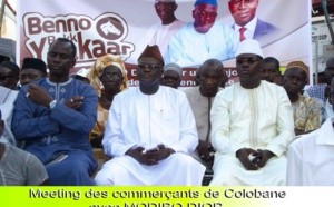 (Photos)  Meeting De Modibo Diop Parain des Jeunes Commerçants De Dakar Au Marché Colobane