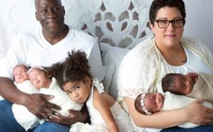 Atteinte d'un cancer, on lui dit qu'elle ne peut pas avoir d`enfants... Elle accouche de quadruplés !