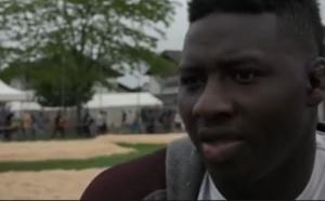 Portrait de Dieylani Pouye, lutteur sénégalais, à la Fête cantonale genevoise de lutte suisse