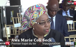 """Eva Marie Coll Seck : """"Le TER va permettre aux voyageurs d'éviter les embouteillages"""""""